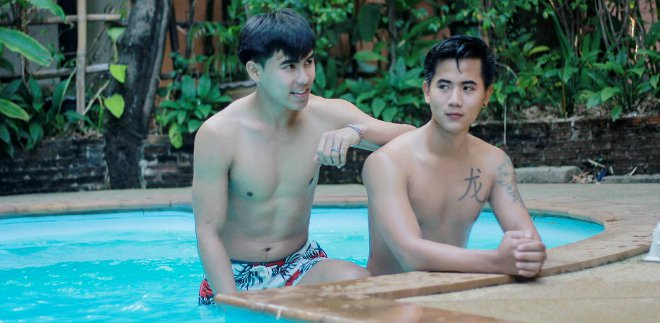 Club One Seven - sexy thai boys enjoy the pool at gay sauna in Chiang Mai