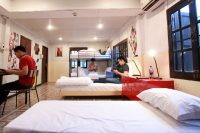 boys in hostel room at club one seven