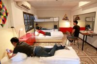 hostel room with boys at club one seven